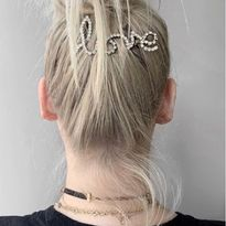 Give your upstyles a surprise sparkle in the back with a glittery accessory.
