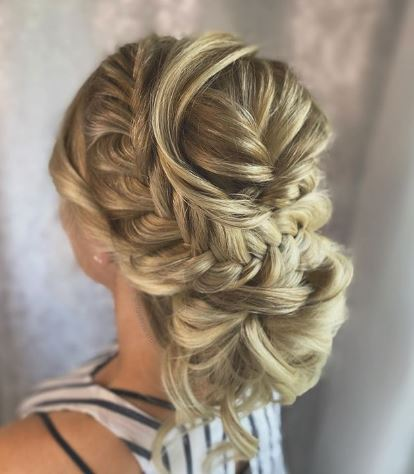 Bridal Hair How-To: Fishtail Crown Updo