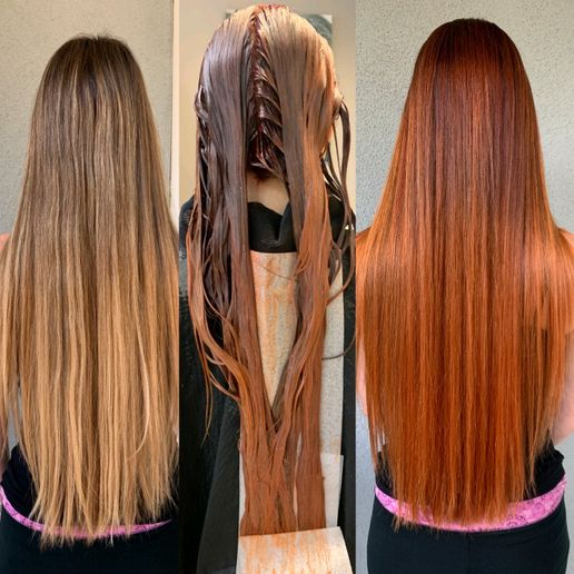 Hair color makeover by Sadie Gray