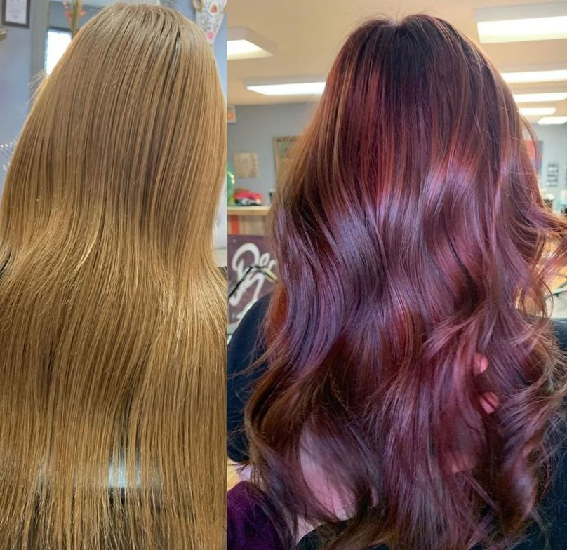 <p>Pravana Artistic Educator&nbsp;@becky_pawson&nbsp;used the new Express Tones After Dark in Dark Mahogany on the roots then went through and did sections melting alternating Dark Mahogany with Dark Neutral Pearl and Dark Neutral Ash.</p>
