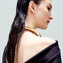 The wet look for Proenza Schouler F/W2020 by Redken Global Creative Director Guido Palau
