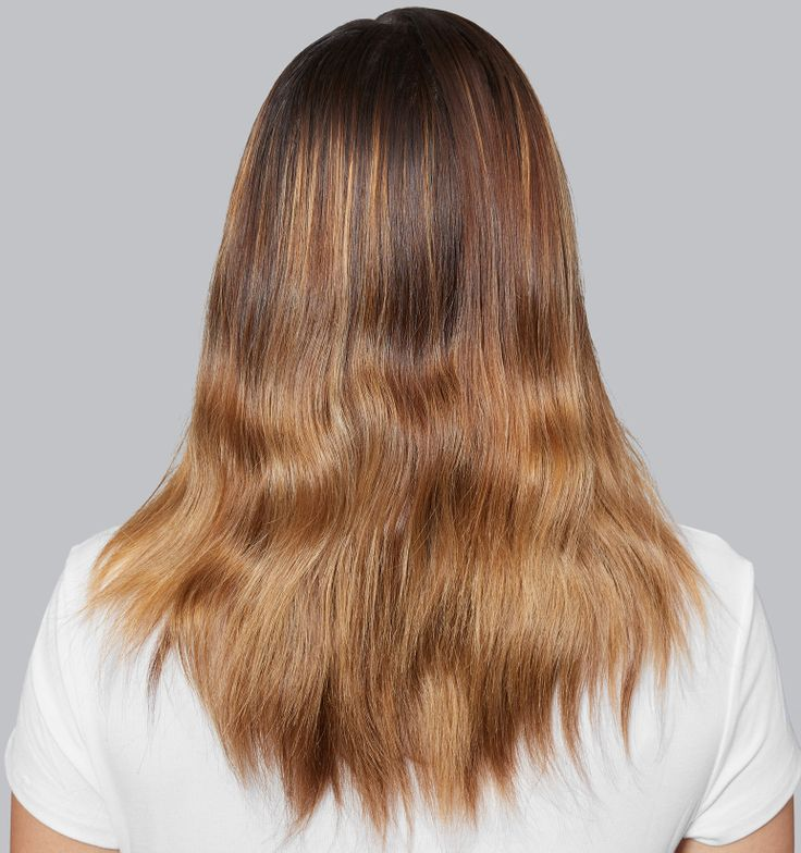 <p>Before: Brassy highlights like these&nbsp; can be neutralized and controlled with the <strong>Matrix Total Results Brass Off</strong> system.</p>