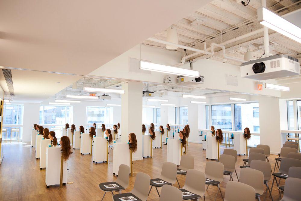 <p>The new <strong>Moroccanoil Academy</strong> is bathed in sunlight and offers lecture style and hands-on training in a variety of workshops including cut, style, texture, social media and more.</p>