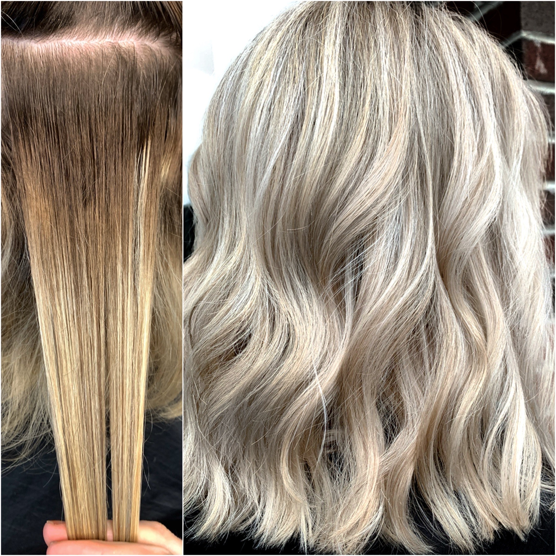 From Uneven and Banded To a Nice Bright Blonde