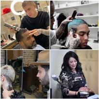 The Babyliss4Barber Ambassadors working with their favorite tools.