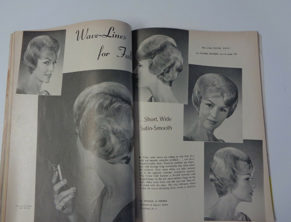 <p>Inside an issue of MODERN BEAUTY SHOP from the 1960s</p>