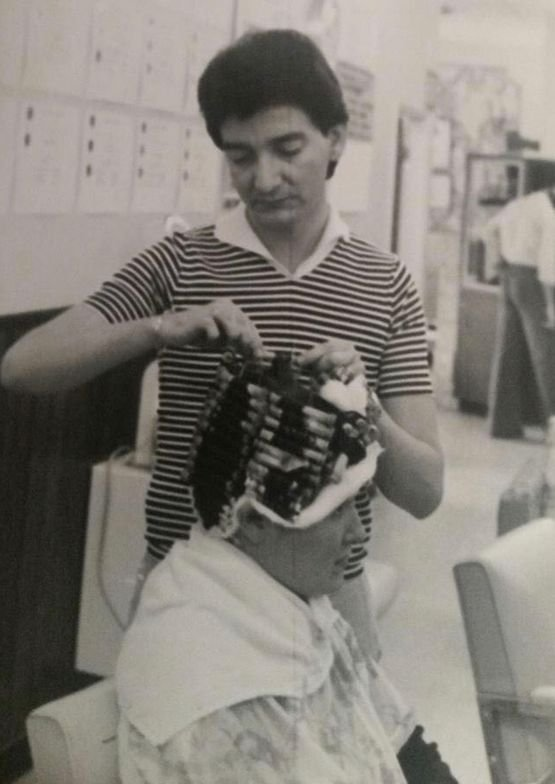 <p>Carlos perfecting that perm wrap.</p>