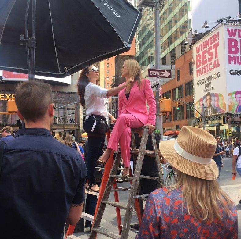 <p>Eva Scrivo styling on location in New York.</p>