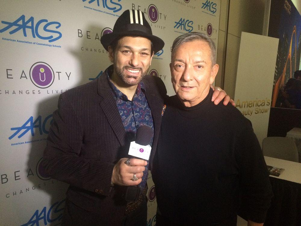 <p>Carlos with stylist Leonardo Rocco</p>