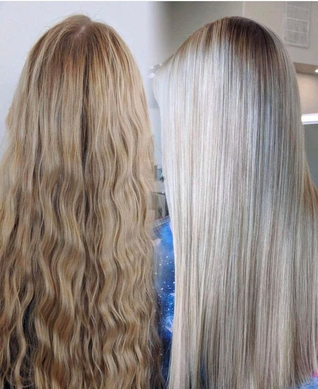<p>Here, <strong>Anthony Barnhil</strong>l @anthonybarnhillhair shares a before and after using <strong>Malibu C Crystal Gel Treatment</strong>, which preps hair before color and stops color from oxidizing after rinsing.</p>