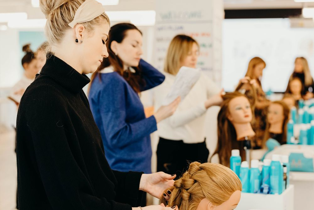 <p><strong>Moroccanoil Academy</strong> students learn the Double Knot technique, a look that can be tailored for everything from a casual night out to a formal affair.</p>