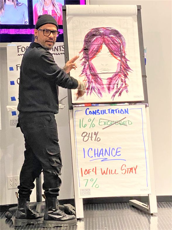 <p>At <strong>The</strong> <strong>Redken Exchange</strong>, top artists like George Garcia bring passion and energy to every class.</p>