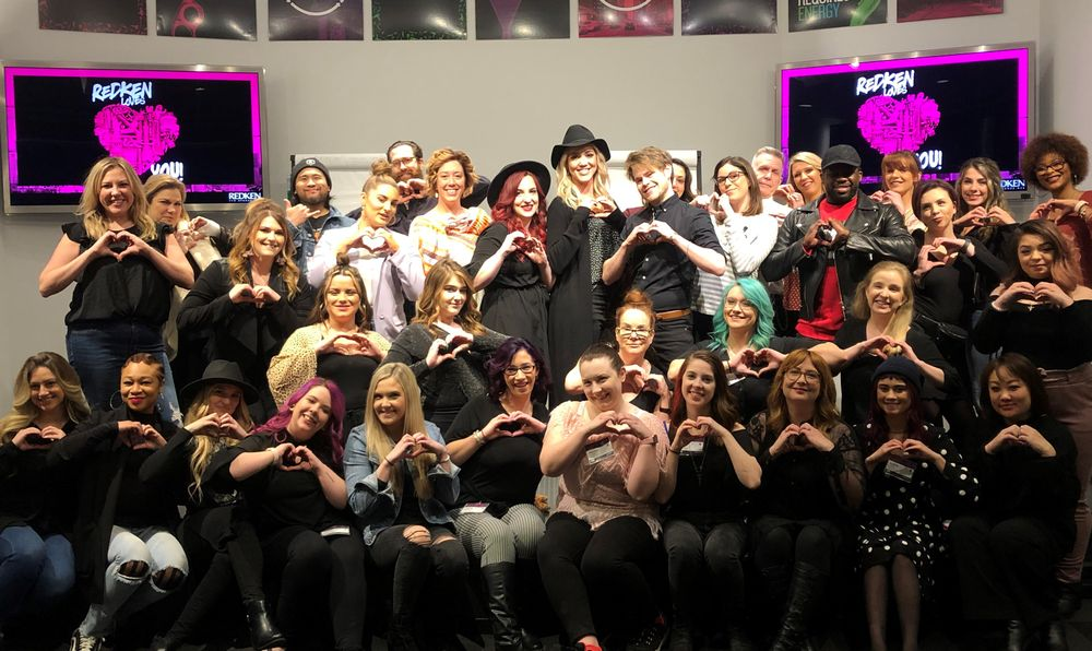 <p><strong>The Redken Exchange</strong> classes end with a class photo and guests always show the love.</p>