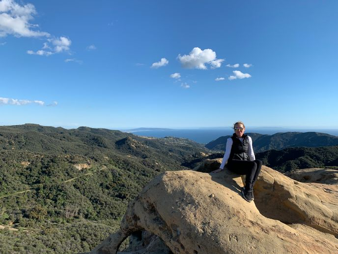 Rona O'Connor is taking some time to stay fit and inspired by hiking during the COVID-19 crisis.  -