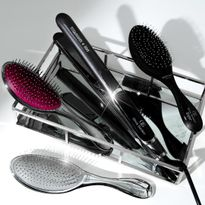 "The Olivia Garden 1"" Titanium + Ion Flat Iron with brushes."