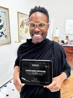 Billy Porter Graduates From 'Quarancuts' Virtual Hair School