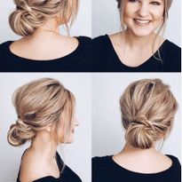 Caralee Pridemore has been demonstrating her upstyling on her own hair during stay-at-home.