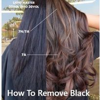 How to remove black hair color