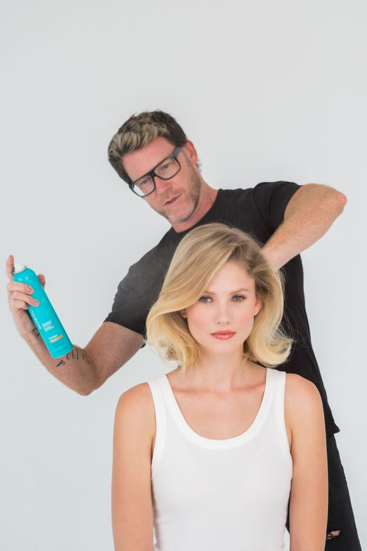 <p><strong>Kevin Hughes, Artistic Director @hairbyeleven works with&nbsp;NEW Moroccanoil Volumizing Mist</strong></p>