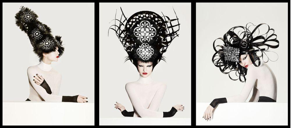 <p>Hair by Nicholas French</p>  <p>Make up artist: David Maderich</p>  <p>Fashion stylist: Rod Novoa</p>