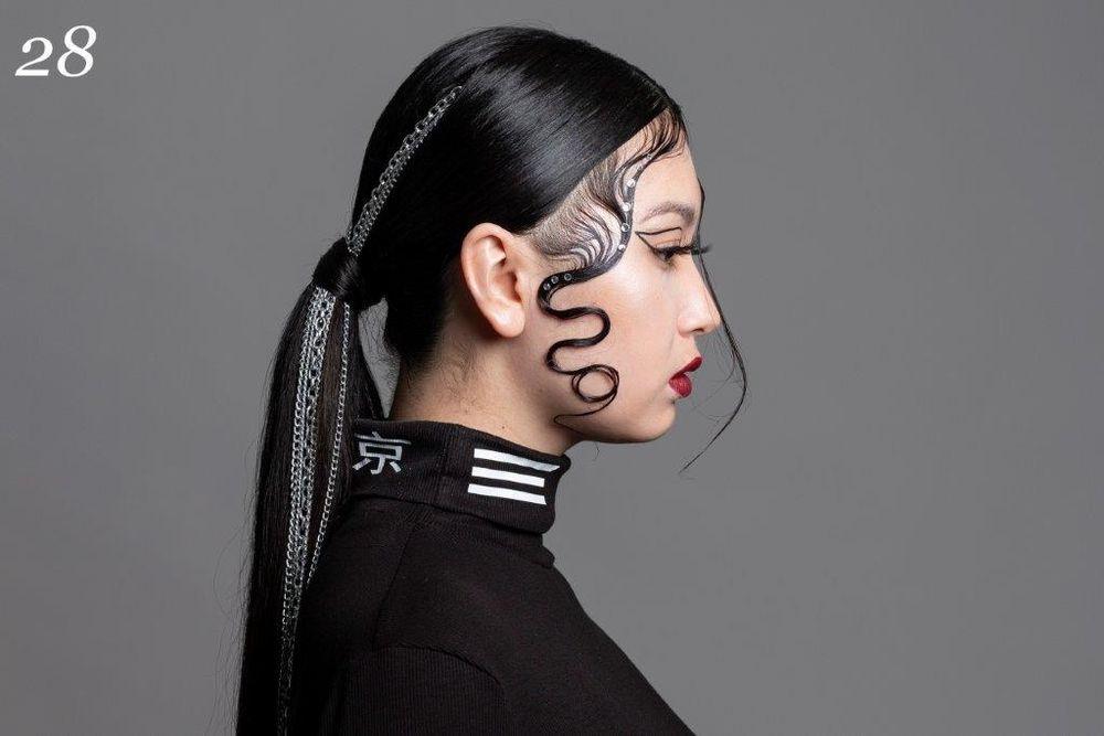 <p>1st Place Stylist - <strong>Celine Okamoto</strong></p>  <p>Model: Hanako Carey</p>  <p>School: Pasadena College</p>