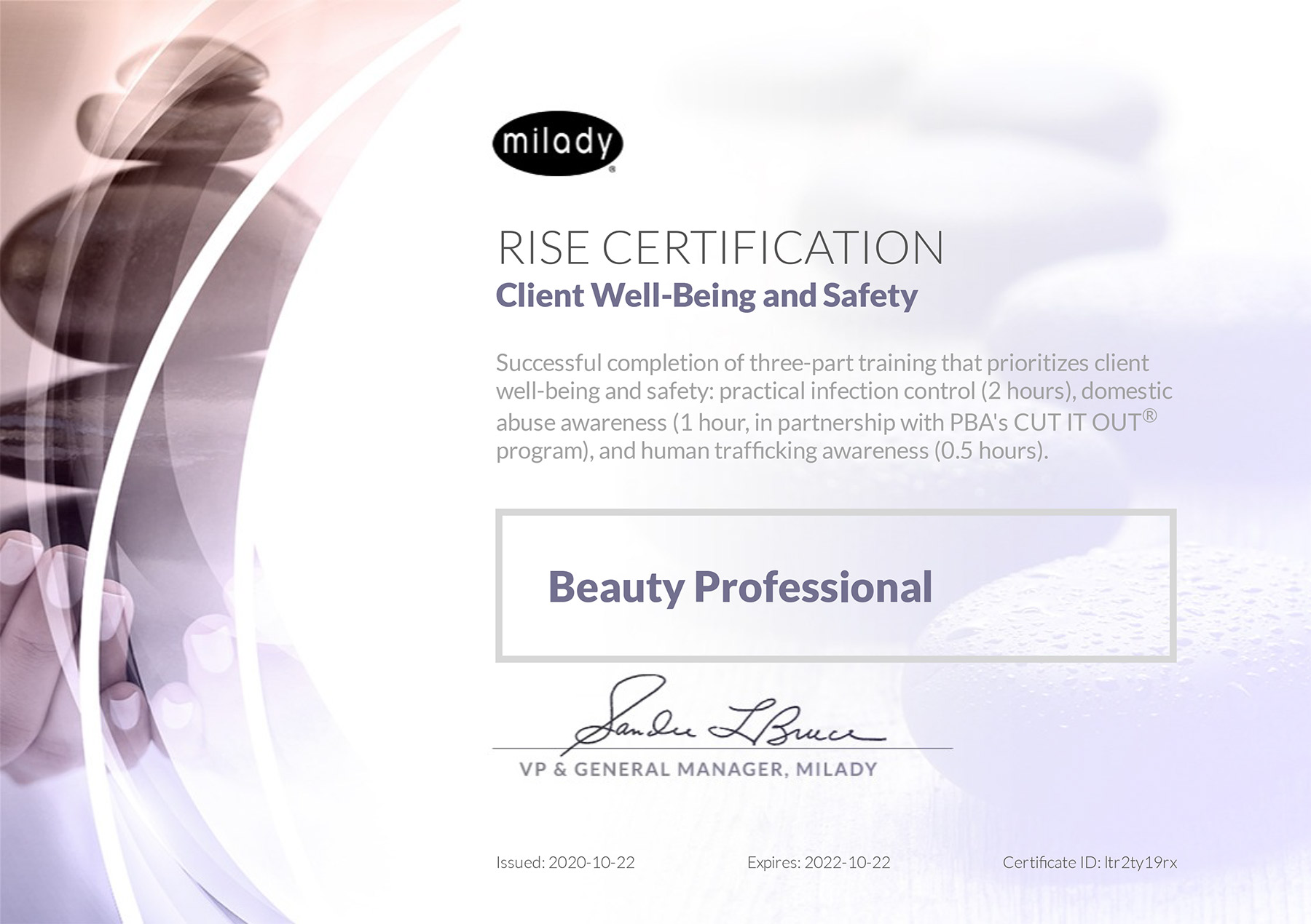 Milady Launches Certification in Client Well-Being & Safety