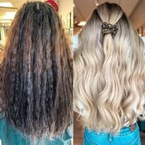 Epic Blonde Makeover with All the Steps