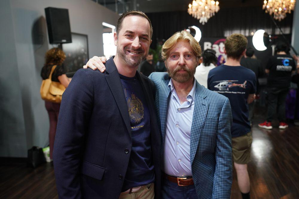 <p>President of MODERN SALON, Brian O&#39;Rourke and CEO of DreamCatchers, Chris Volek</p>