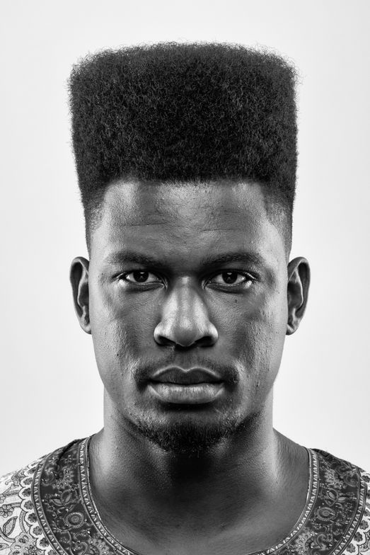 <p><strong>Andr&eacute; Lu&iacute;s de Jesus, Brazil:</strong> a tall, long linear flat top with a solid shape to add strength andintensity featuring American Crew Pomade.</p>