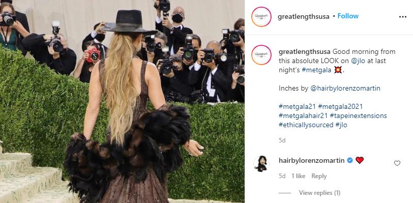 Jennifer Lopez's 2021 Met Gala Look