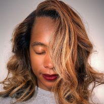Artist Connective Member Kyra Brown Keeps Her Textured Blondes Healthy