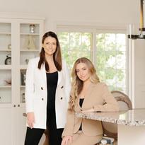 Lunata Beauty founders Stacey Boguslavskaya(L) and Monica Ambramov