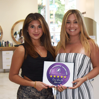 Stylist Gabriele Rosati (left) and founder/owner Audriana Rossano of The Color Room,...