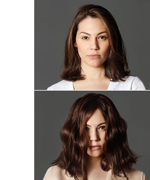 <p><strong>Before and after 2-Shade Balayage Ambr&eacute;</strong></p>