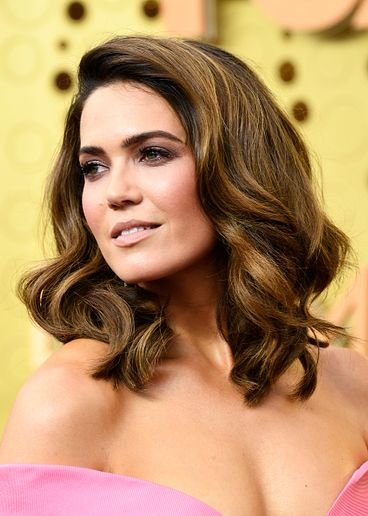 Mandy Moore at the 71st Primetime Emmys Awards with hair color by Redken's Tracey Cunningham