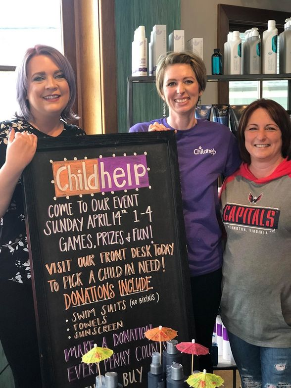 <p>The Team at Hair by Samsara created a fundraiser centered around games and raffles so that their community could rally for Childhelp.</p>