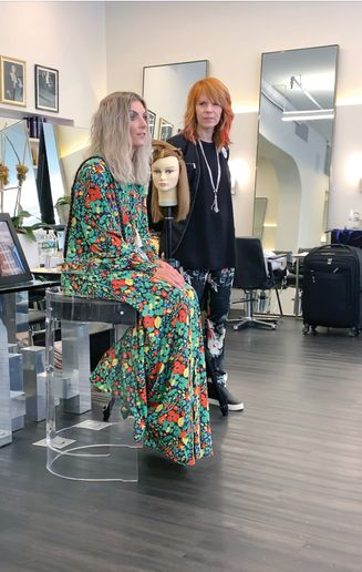 4. Great Lengths extension educators Danielle Keasling and Nanci Lee taught guests how to embrace extensions both on set and in the salon and how extensions can take looks to the next level.  -