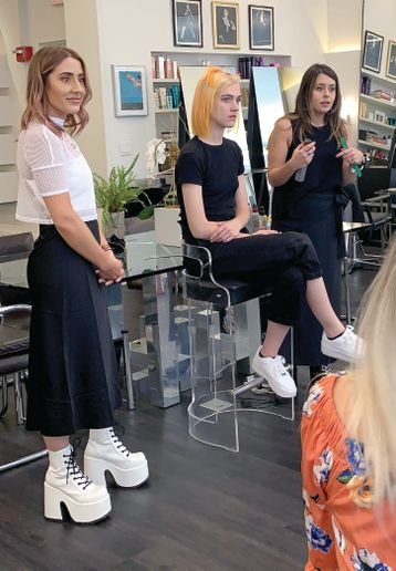 Colorist Kylie Bussing (@kyliebussinghair) talked about the game-changing experience of entering hair competitions like Color Zoom, while educator Lexi Lomax (@lomax.lexi) shared styling tips using the KMS family of styling products. -