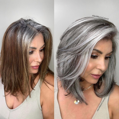 Makeover: How Jack Martin Helps Clients Stop Coloring Their Gray Hair