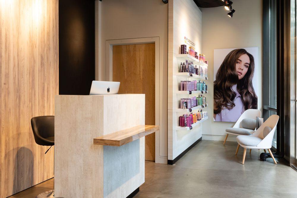 <p>Salon entrance. The salon technology is powered by Phorest Salon Software.&nbsp;</p>
