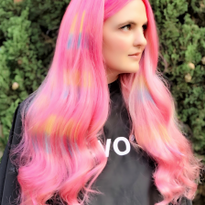 Your client is living her best summer with this pink hologram creation. It's by @archieco_​...