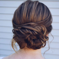 Updo How-To: Romantic Bridal Bun