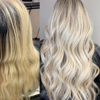 Hair color makeover by Janel Latessa