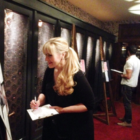 MODERN's Beauty and Fashion Director Maggie Mulhern judging a competition.