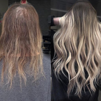 Using Color and Extensions for a Total Hair Transformation