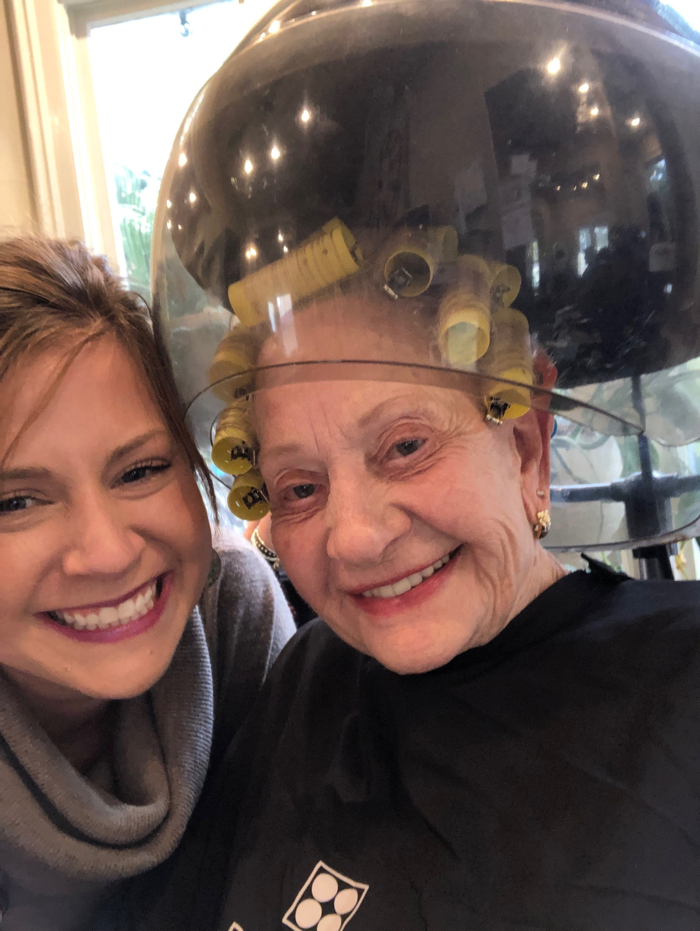 <p>Natalie and her beloved client, Audrey</p>