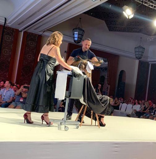 Romeu Felipe on stage at Wella Destination in Morocco  -