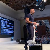 Romeu Felipe (@romeufelipe) shares tips at Wella Destination in Morocco