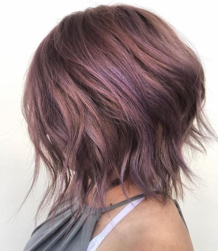 <p>Sheridan Holyoak (@shmoakin_hair) is giving us major hair envy with this dusty lavender bob.</p>
