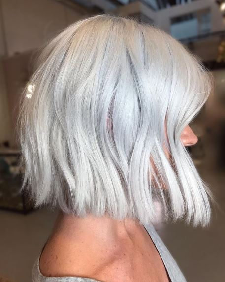 This Silver Stunner was Created Using a Toning Shampoo